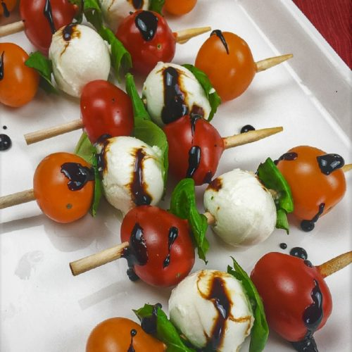 Caprese Salad Skewers With Balsamic Glaze Recipe The Free Cookbook Club